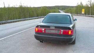 Audi S6 (C4) V8 sound with straight pipes(Video of my urS6 4.2 without mufflers. Just had to try before the new exhaust goes in!, 2010-05-27T21:40:32.000Z)