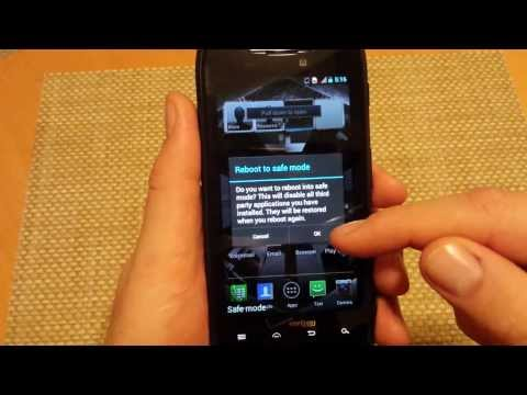 Motorola DROID RAZR How to enter and exit Safe mode steps and instructions safemode XT912