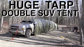Huge Double SUV Tąrp Tent Camping