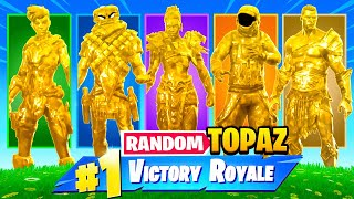 The *RANDOM* GOLD TOPAZ Challenge in Fortnite!