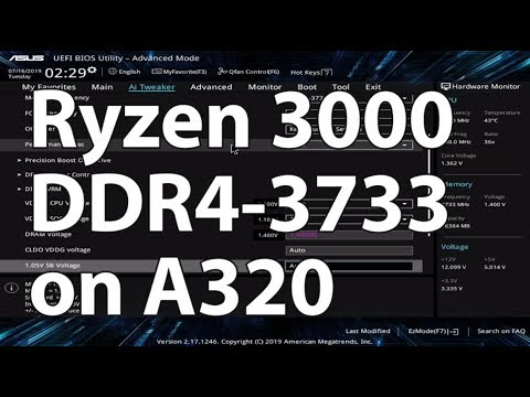 Ryzen 3000 (Ryzen 5 3600) on a A320 Mainboard (Asus A320M-K) and DDR4-3733   No Problem!