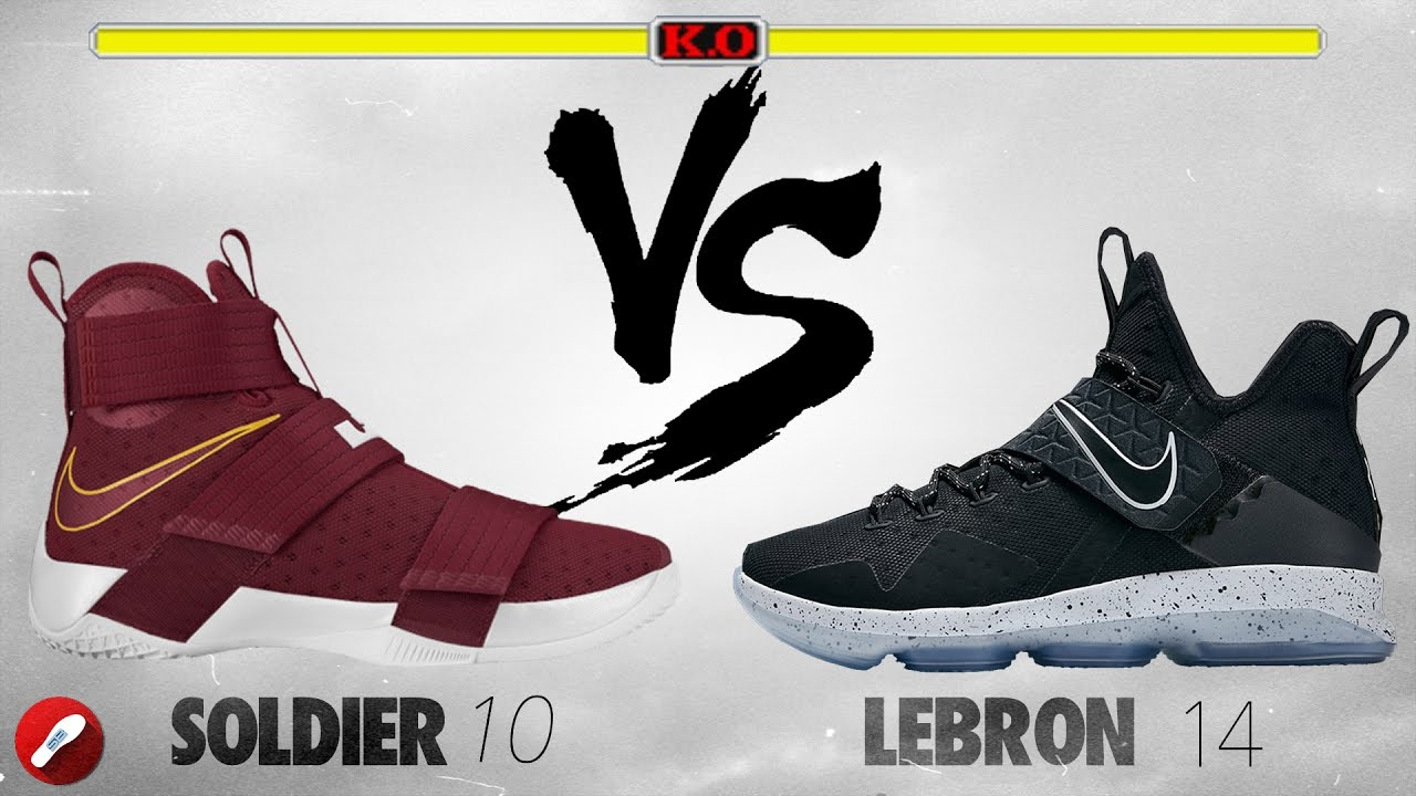 997f289d60af Nike Lebron Soldier 10 vs Lebron 14! - YouTube