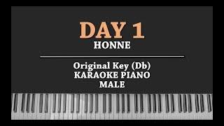 DAY 1 ◑ (Male Key Karaoke Piano Cover) HONNE