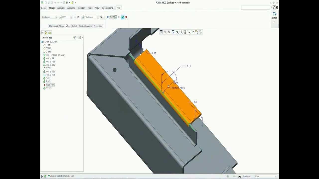 Creo Parametric Sheetmetal Tips Youtube