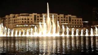 Dubai dancing fountain - arabic tune