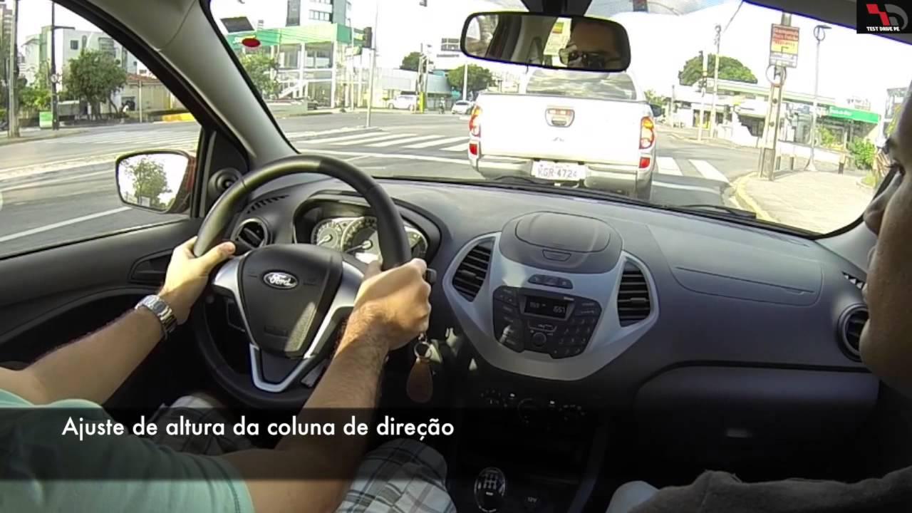 Tdpe Novo Ford Ka 1 0 Se 2015 Teste De Rua Youtube