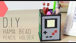 Tutoriel - DIY Saint Valentin : Pot à crayons hama bead Geek - Pencil Holder (english subs)