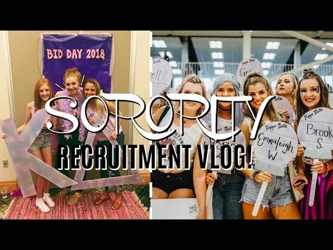 SORORITY RECRUITMENT (OUTFITS + REVEAL!)
