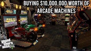 BUYING $10,000,000 WORTH OF ARCADE MACHINES IN GTA 5!! (All Machines and Upgrades Casino Heist DLC)