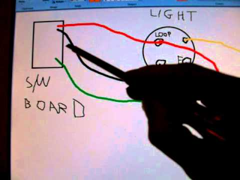 how light fixtures and light switches are connected electrical rh youtube com Home Wiring Lights Wiring Bathroom Lights