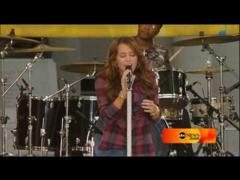 Miley Cyrus bottom of the ocean live @ good morning america