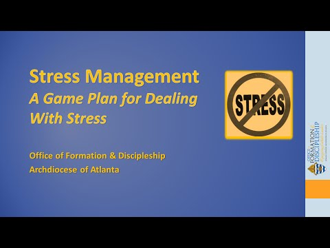 Stress Managementa Game Plan For Dealing With Stress