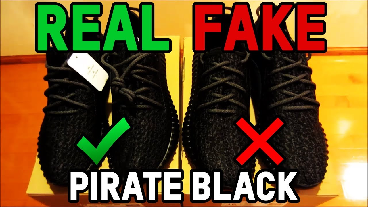 huge discount 2175b ba6a7 Adidas Yeezy Boost 350 Pirate Black Authentic Vs. Fake from eBay