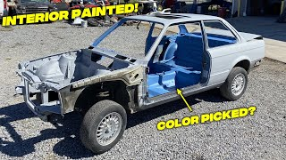 Painting The Interior On My BMW E30 V8 Swap (NEW CAR COLOR PICKED) - Episode 4