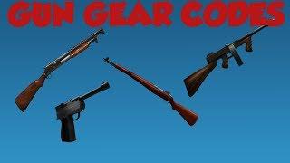 Codici di ingranaggio pistola Roblox