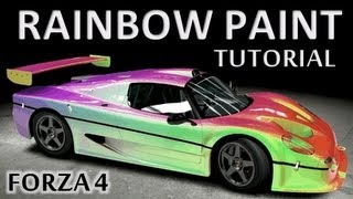 Forza 4 Rainbow paint tutorial