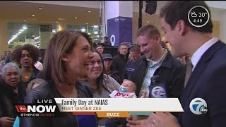 """Ginger Zee finds her biggest """"little"""" fan at Detroit Auto Show"""