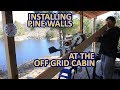 Installing Pine Tongue and Groove on the walls at my Off Grid Cabin - Part 1