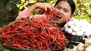Extreme Spicy Fried Grinded Chilies 10KG Eating with Balut Eggs  King of Spicy Foods