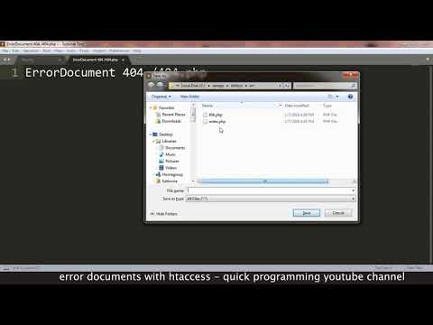 Web Design - How to set a custom 404 error document for your website using HTACCESS file - Tutorial