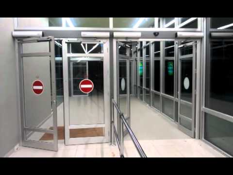Automatic swing doors by Security Home Center YouTube