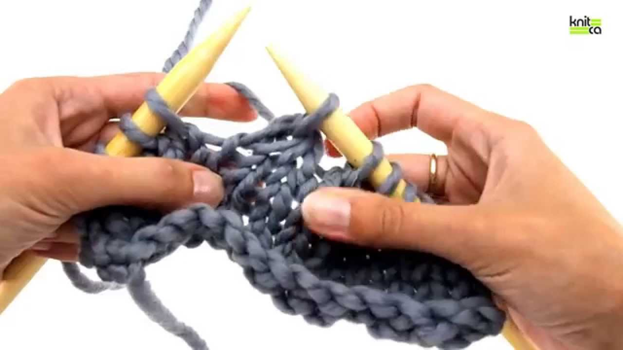 Knitting 3 Stitches Together : How to knit 3 stitches together (k3tog) - YouTube