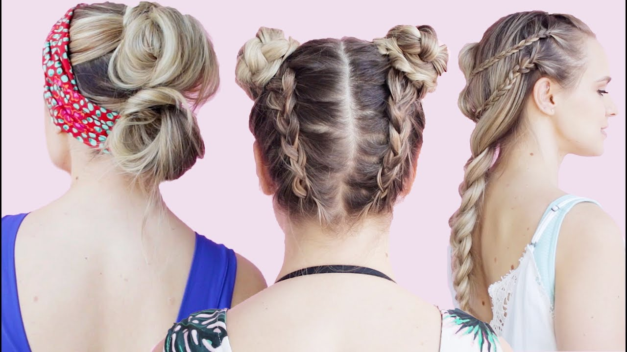 Easy Beach Hairstyles Tutorial - KayleyMelissa - YouTube
