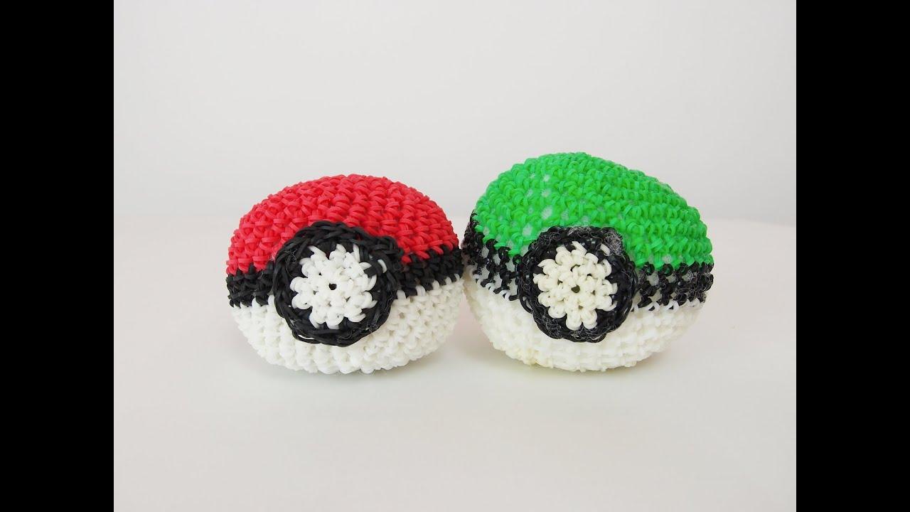 Amigurumi Pokemon Ball : Pokemon Poke Ball Rainbow Loom Bands Amigurumi Loomigurumi ...