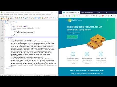 Cookie-Banner (optional Mit Opt-in) Einbinden (DSGVO Für Websites) – Webdesign-Tutorial