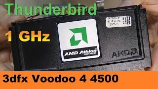 AMD Athlon 1000 MHz slot A + 3Dfx Voodoo 4500 AGP on ASUS K7M - RETRO Hardware
