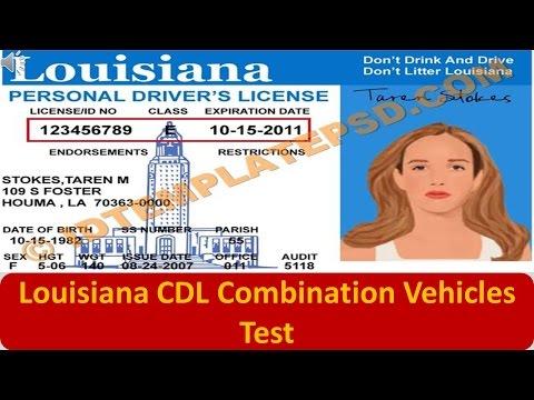 Louisiana CDL Combination Vehicles Test