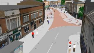 VISSIM Model of Loughborough Town Centre Bus Trial