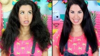 Gambar cover How To Get Straight Hair Using NO HEAT! Works on Curly, Frizzy or Long Hair!