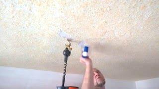 видео Отделка потолка жидкими обоями