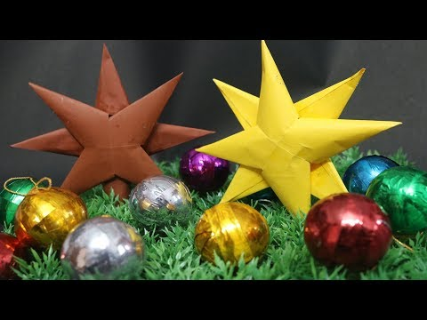 Simple & Easy Paper Star For Christmas Decoration ⭐️🎅🏾  | FUN and LEARN | DIY Paper Craft Ideas