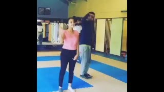 Famous Ethiopian Actress Hanan Tarik exercising at Gym