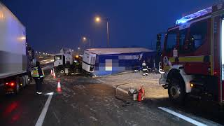 Kamion balesete az M0-ás autóúton