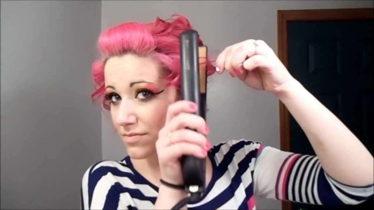 5 min romantic updo for short hair