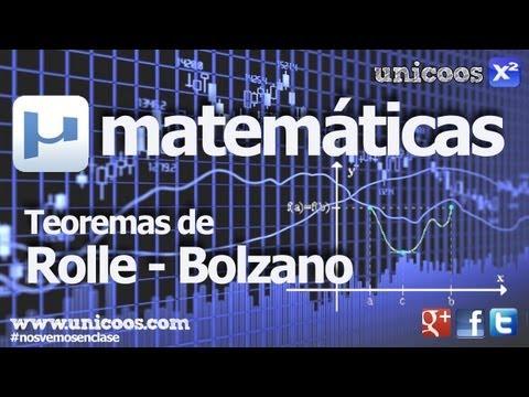 Teorema de BOLZANO / ROLLE - única raiz de una funcion BACHILLERATO matematicas