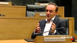 """Entrevista a Javier Esparza en el programa """"Parlamento"""" de Navarra TV"""