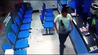 Off duty cop stages gunfight with two armed robbers