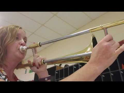 5-note scale for trombone