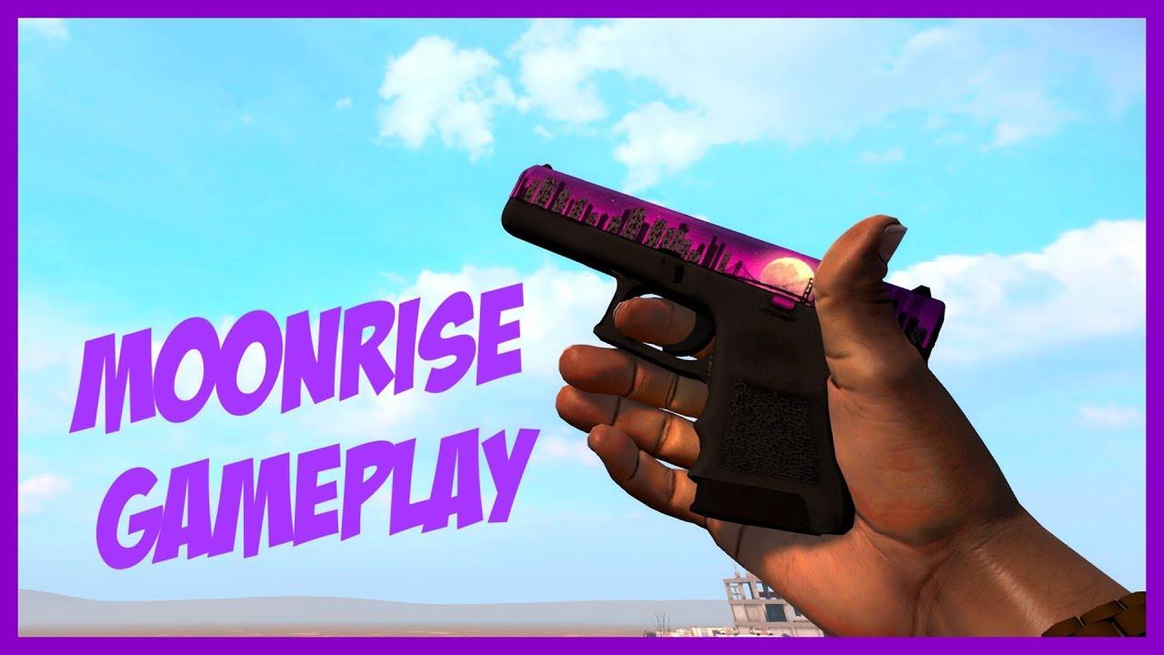Cs Go Glock 18 Moonrise Pistol Gameplay 1080p60 Youtube