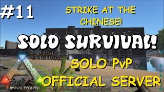 RAIDING MY OWN BASE? | Solo PvP Survival - Official Server Ep. 11 -Ark: Survival Evolved Let's Play