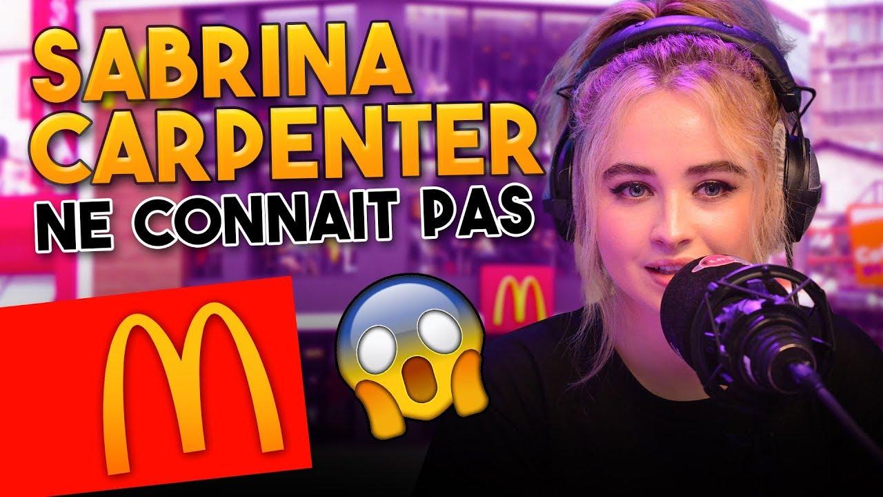 SABRINA CARPENTER NE CONNAIT PAS LE MACDO 😵 - Marion et Anne So