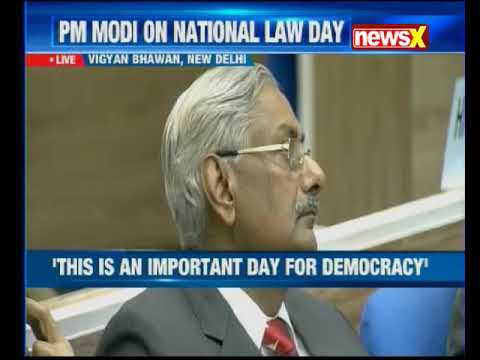 PM Modi delivers valedictory address on National Law Day at Vigyan Bhawan in Delhi