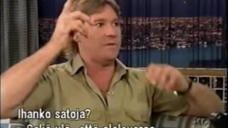 Steve Irwin on Conan, funny.