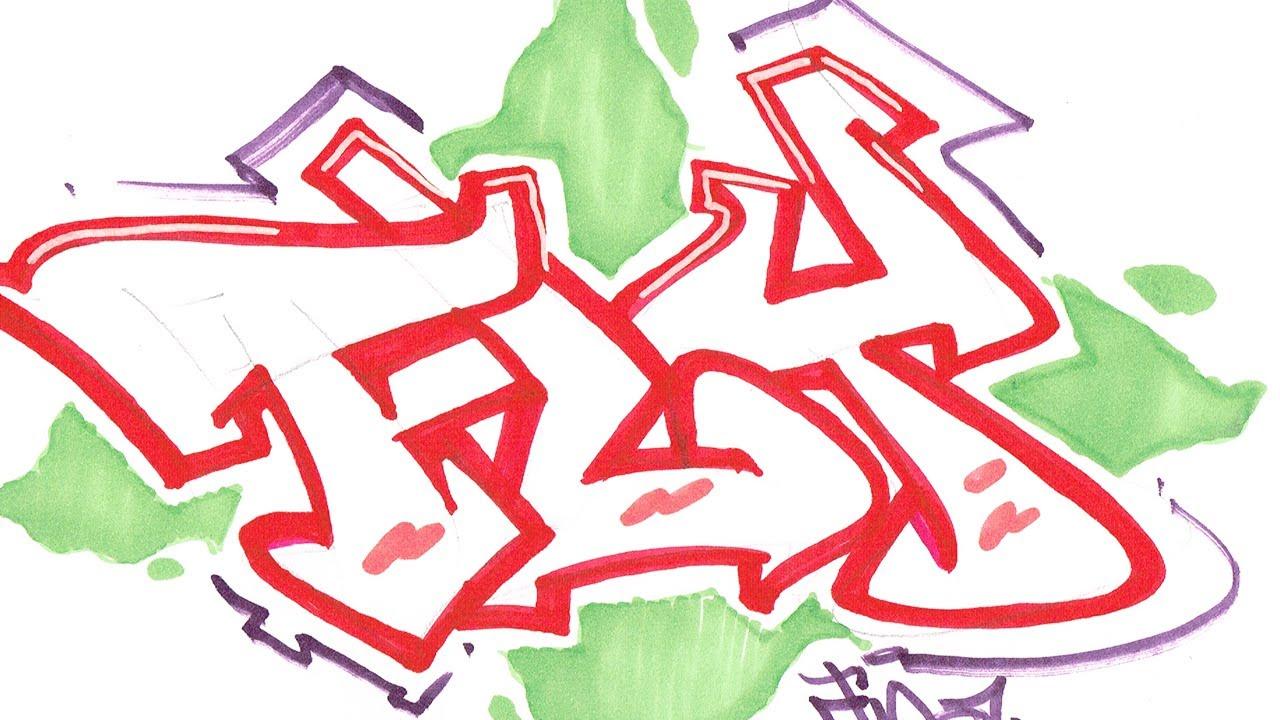 Easy Draw Graffiti Word Dope