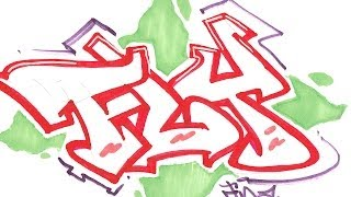 Step By Step How To Draw Graffiti Letters - Write Fly In Graffiti For Beginners