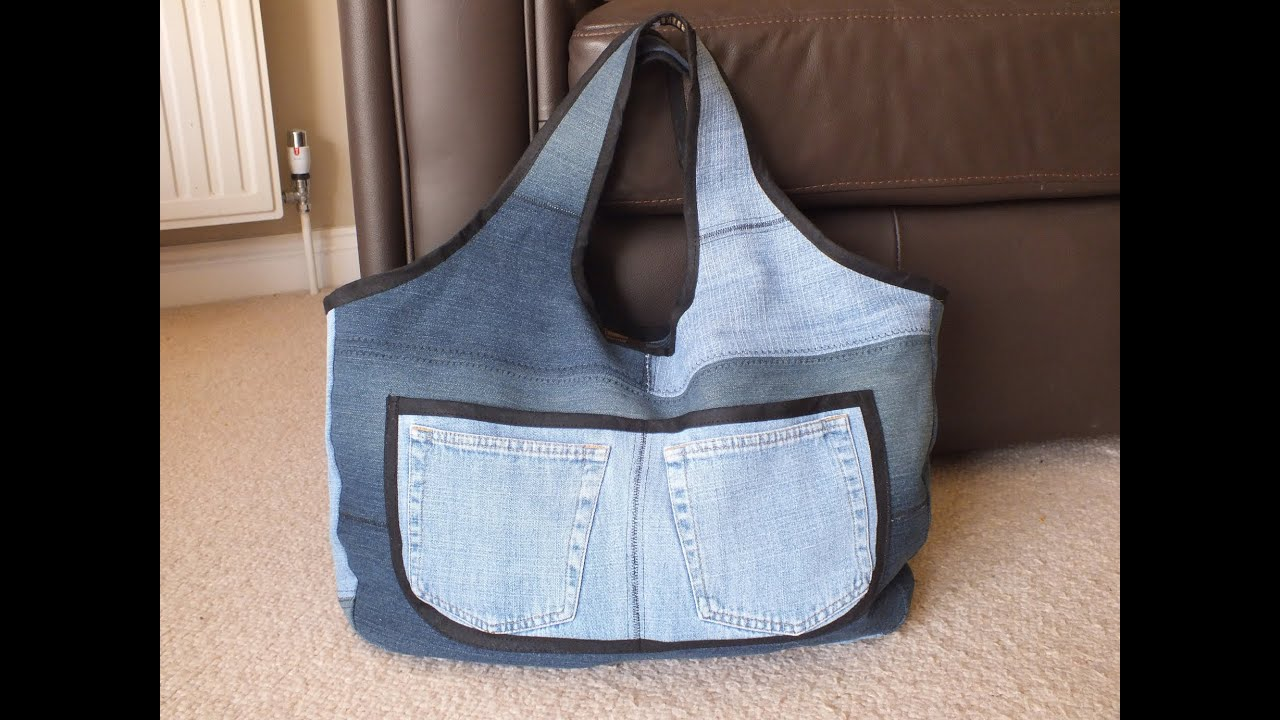 Recycled jeans bag sahara 3denim sewing project diy bag vol 3d recycled jeans bag sahara 3denim sewing project diy bag vol 3d youtube baditri Images
